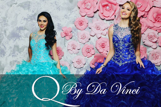 Q by DaVinci designer quinces dresses